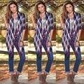 Случайные Свободные Пиджаки Одежда Наряды Осень Женщины Кардиган Свободные Блузки Одежда С Длинным Рукавом Плед
