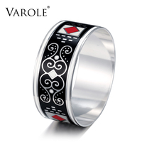 VAROLE 28mm Width Vintage Jewelry Copper Enamel Cuff Bracelets Elegant Classic Bangles for Womens Clothing Accessories Jewelry