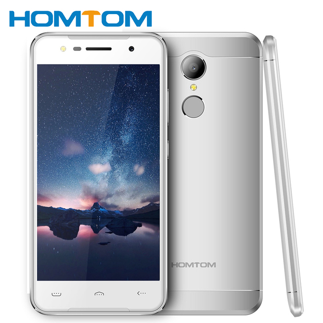 Fingerprint Smartphone Original HOMTOM HT37 Android 6.0 MTK6580 Quad Core 2GB RAM 16GB ROM 5.0 Inch 1280x720 Mobile Phone