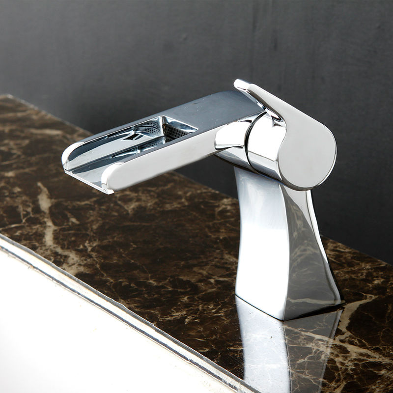Superfaucet Single Handle Faucet Widespread Waterfall Bathroom Vanity Sink Lavatory Faucet Bathroom Waterfall Faucet HG-1400 декор lord vanity quinta mirabilia grigio 20x56