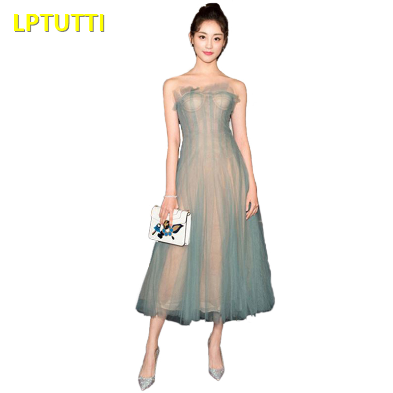 LPTUTTI Chiffon New Sexy Woman Plus Size Social Festive Elegant Formal Prom Party Gowns Fancy Short Luxury Cocktail Dresses