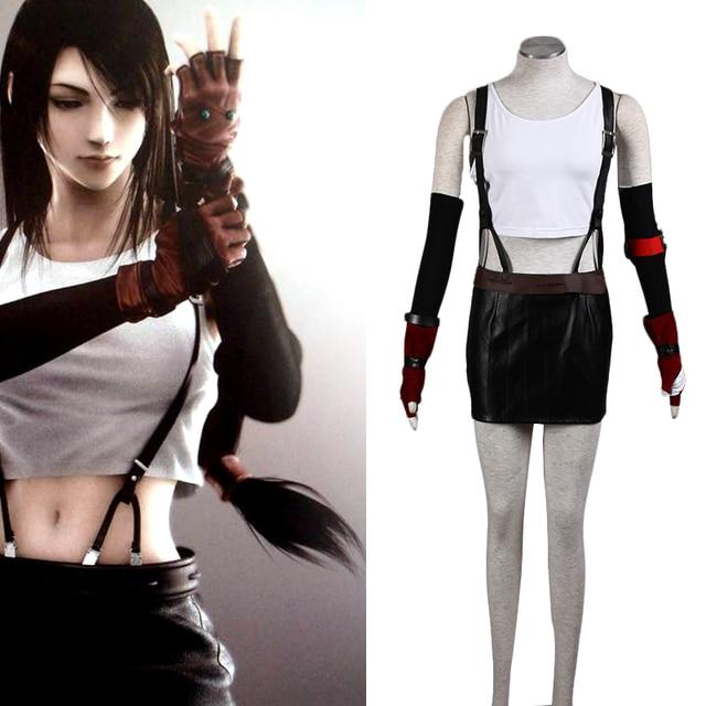 Anime Final Fantasy Cosplay - Final Fantasy VII New Tifa Lockhart Women s  Performance 10 Sets Cosplay Costumes Tifa Clothes 9864e41b1b