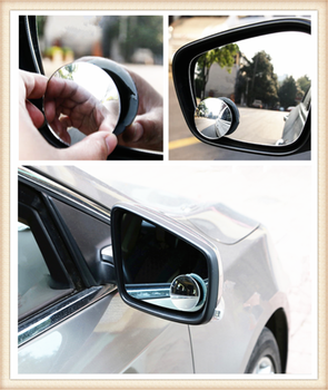 Car borderless small round blind spot mirror reversing aid for Toyota 4Runner Sienna Sequoia Prius GR Camry i-TRIL image