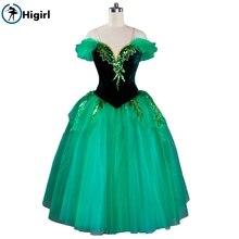 ballet tutu green costumes dance dresses leotard kid dress costume enfant