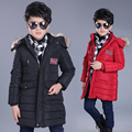 2016 NEW Winter Jacket Boys Fashion Hooded Cotton-Padded Long Thicker Warm children winter Coat Parkas