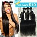 BQ Hair Products 3pcs Grade 7A Unprocessed Brazilian Virgin Hair Straight Bundles Mink  Human Remy Weave Hair Extension #1b