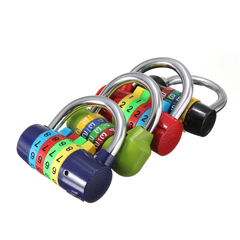 MTGATHER Resettable Digit Number Code Password Combination Padlock Security Safety Lock Hot Sale long 4 digit number code dial combination padlock security safety lock