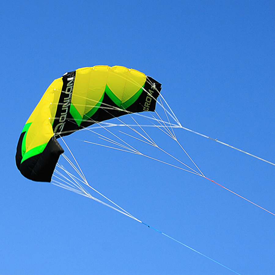 3 Line 2 Sqm Traction Kite Kiteboarding Trainer Kite Power Kite Surfing For Adult Beginner With Kite Line Control Bar