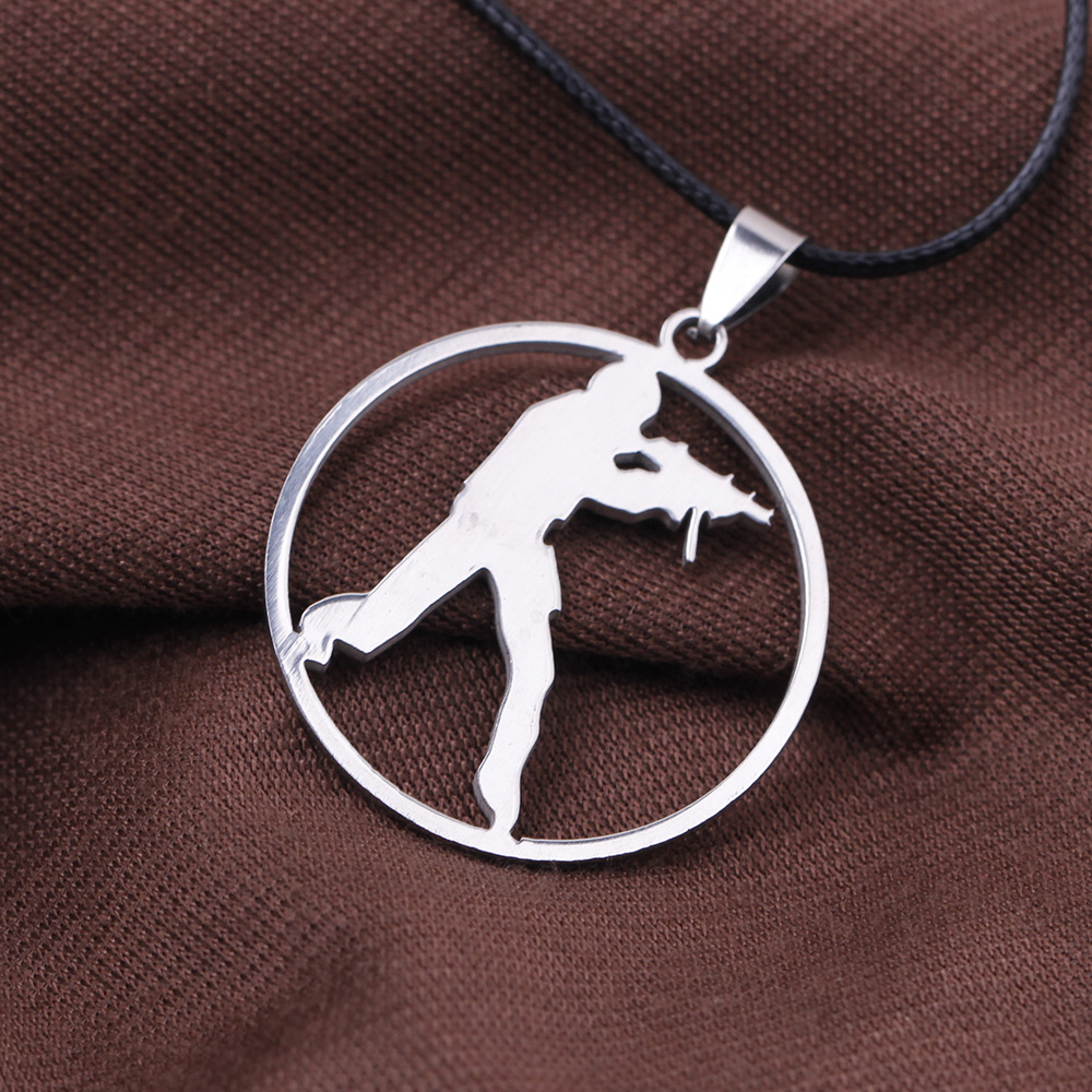 Games cs go stainless steel link necklace for men csgo for What metal is best for jewelry