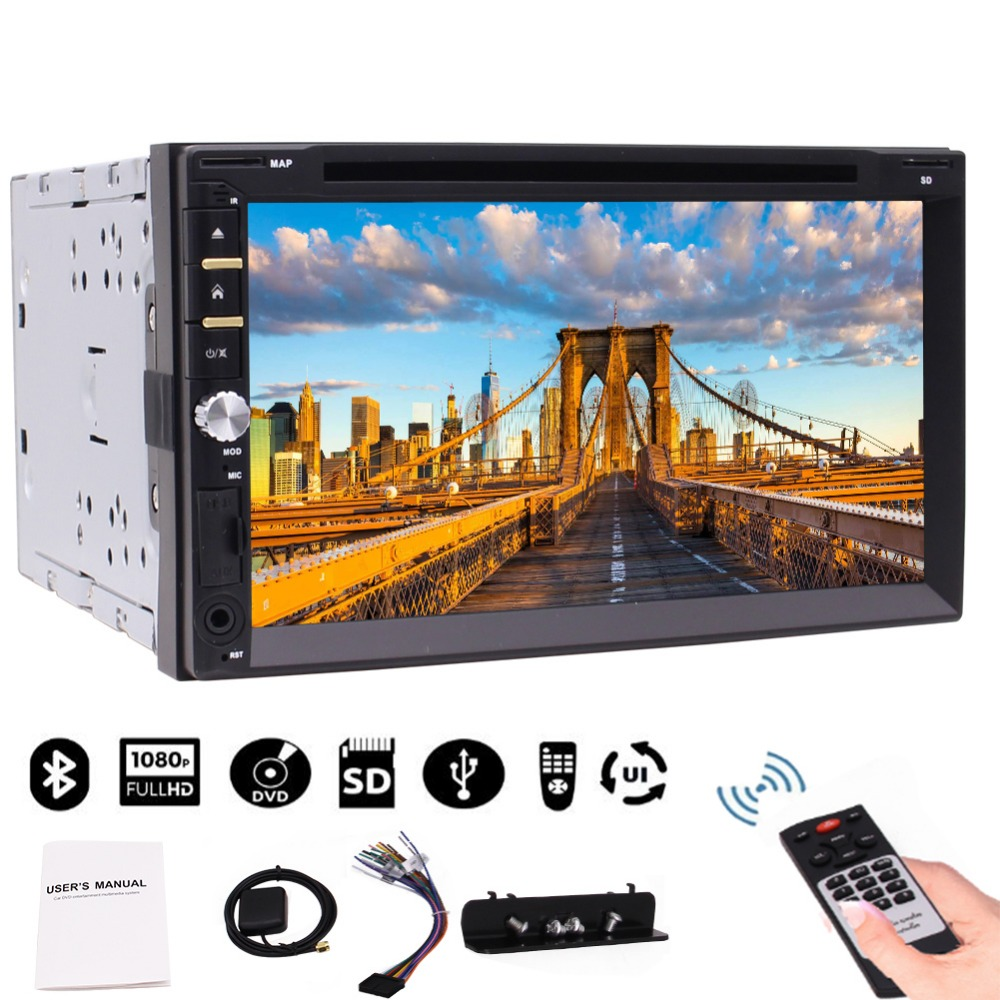 Eincar 7 inch Double two Din Car GPS Player Wince 8.0 system Capacitive Touch Screen With Bluetooth USB/TF AUX-IN Remote Control цены