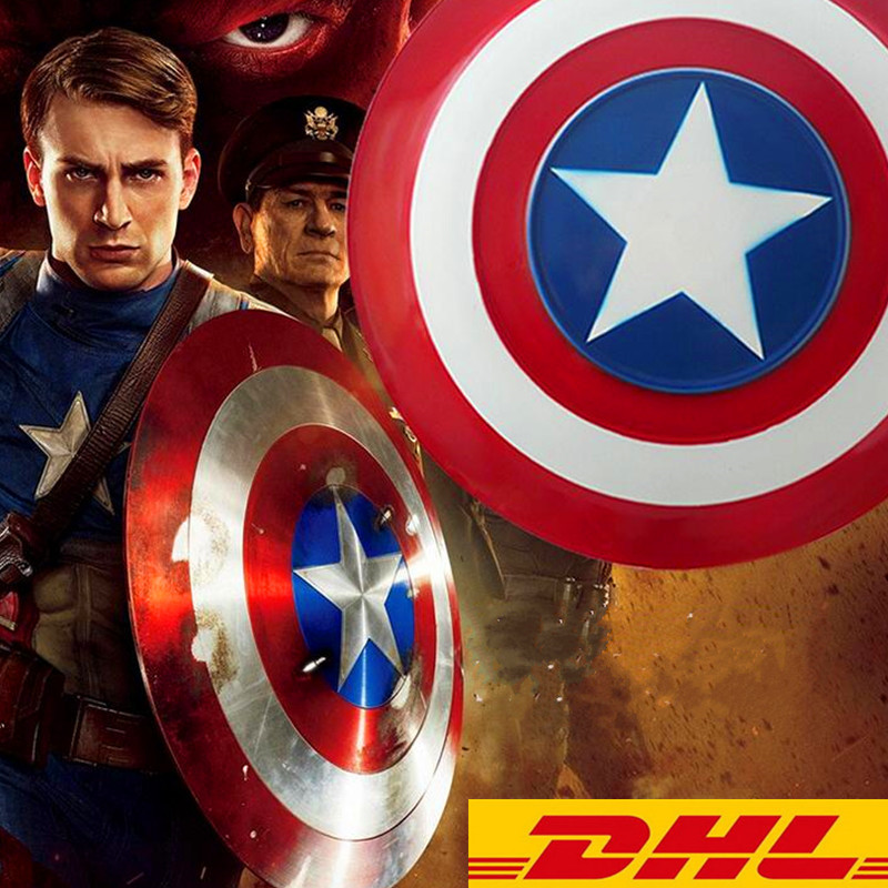 Avengers Civil War Captain America Shield 1:1 1/1 Cosplay Captain America Steve Rogers ABS Model Adult Shield Replica Boxed T124 captain america civil war hawkeye clinton cosplay costume francis barton csosplay costume superhero halloween party custom made