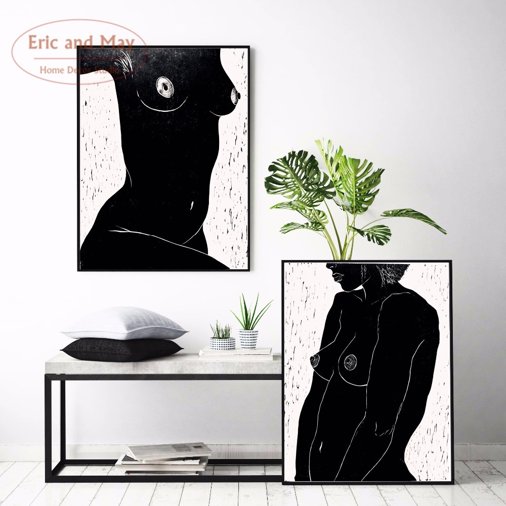 Naked Woman Canvas Art Print Painting Poster Nordic Minimalist Wall Pictures for Home Decoration Living Room Wall Decor in Painting Calligraphy from Home Garden