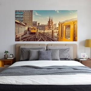 Image 4 - Настенный стикер на кровать, городской поезд, метро, украшение для спальни, ПВХ