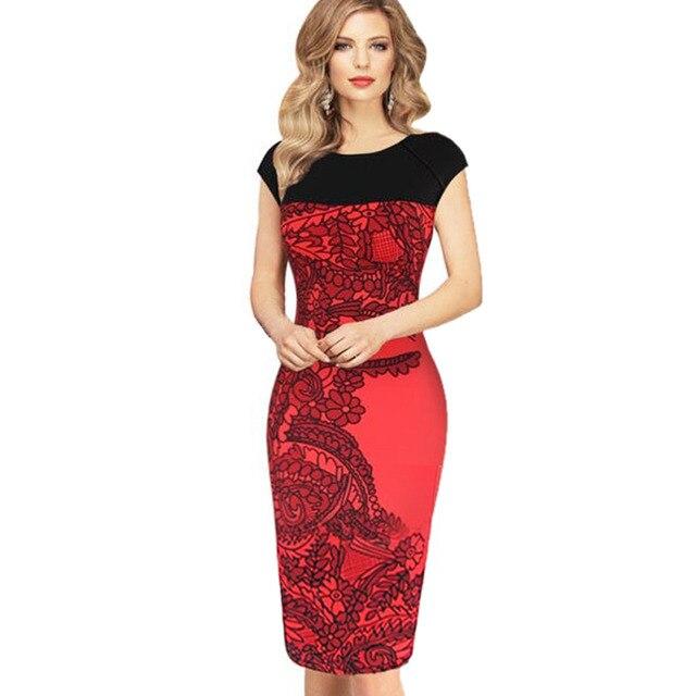 Aliexpress.com : Buy Women's Fashion Office Dress Plus Size Women ...