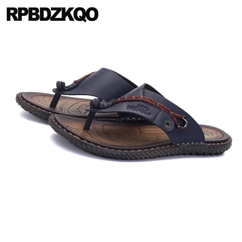 a0fa555b3 Chanclas Sandalias Talla negro Zapatos azul Light Brown Impermeable Azul  Cuero Agua Marca Grande Hombre 46 Verano ...