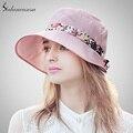 Sedancasesa protegen playa plegable de sun del sombrero del sombrero femenino del verano sombrero de viajes ciclismo sombreros para las mujeres de ala ancha de 6 color WG015242