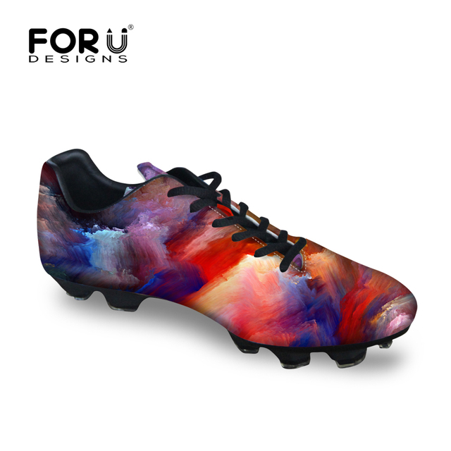3c9c5ea3 FORUDESIGNS Rainbow Color Cloud Boys Indoor Soccer Sneakers Kids Football  Shoes Chaussure De Football for School Prairie-in Athletic Shoes from  Mother ...