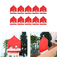 10Pcs Non woven Chair Cover Stool Set Christmas Decoration merry christmas decoration
