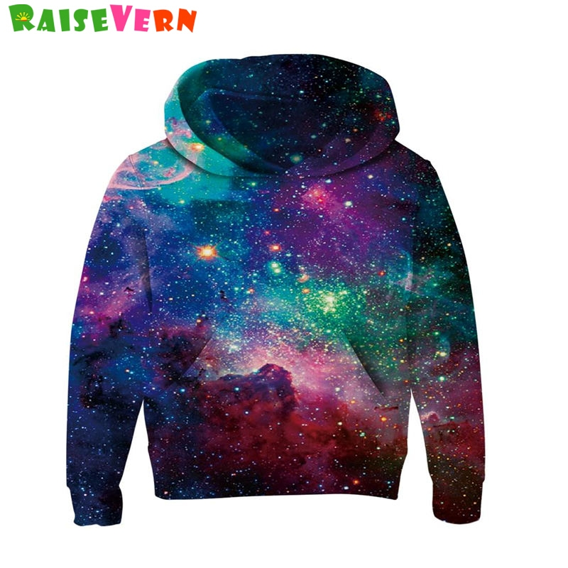 Space Galaxy <font><b>3D</b></font> <font><b>Hoodies</b></font> Children Sweatshirts <font><b>Unisex</b></font> Long Sleeve Pullover Autumn Winter Boys Girls Thin Hooded Hoody Child Tops image