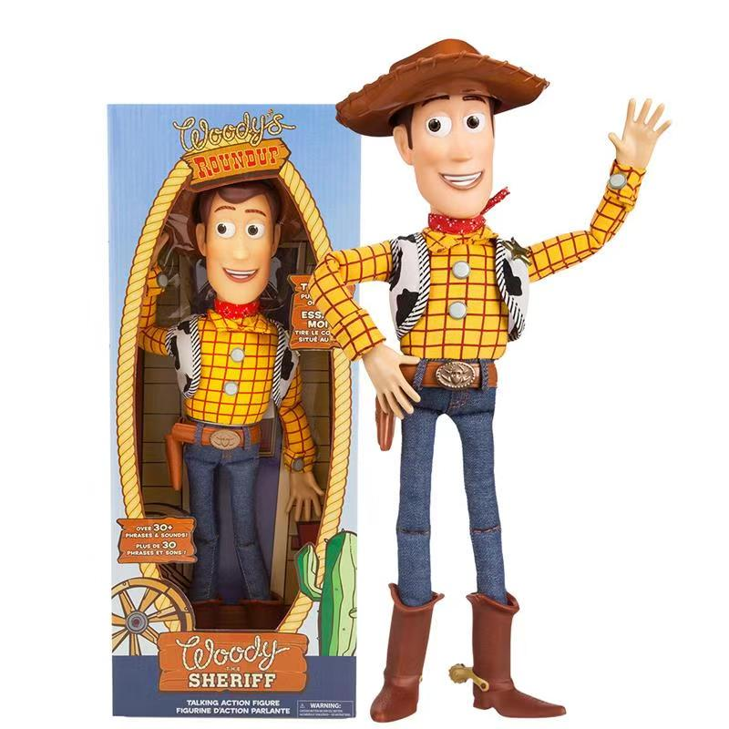 Toy Story 3 4 Talking Woody Action Figures Collectible Model Doll Toys For Children Christmas Birthday