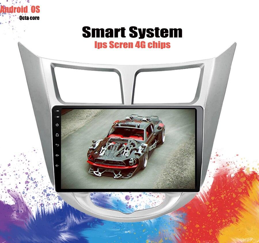 Lecteur DVD GPS de 10.1 pouces   Pour Hyundai Solaris Verna accent voiture headunit radio lecteur vidéo navigation Carplay enregistreur à bande