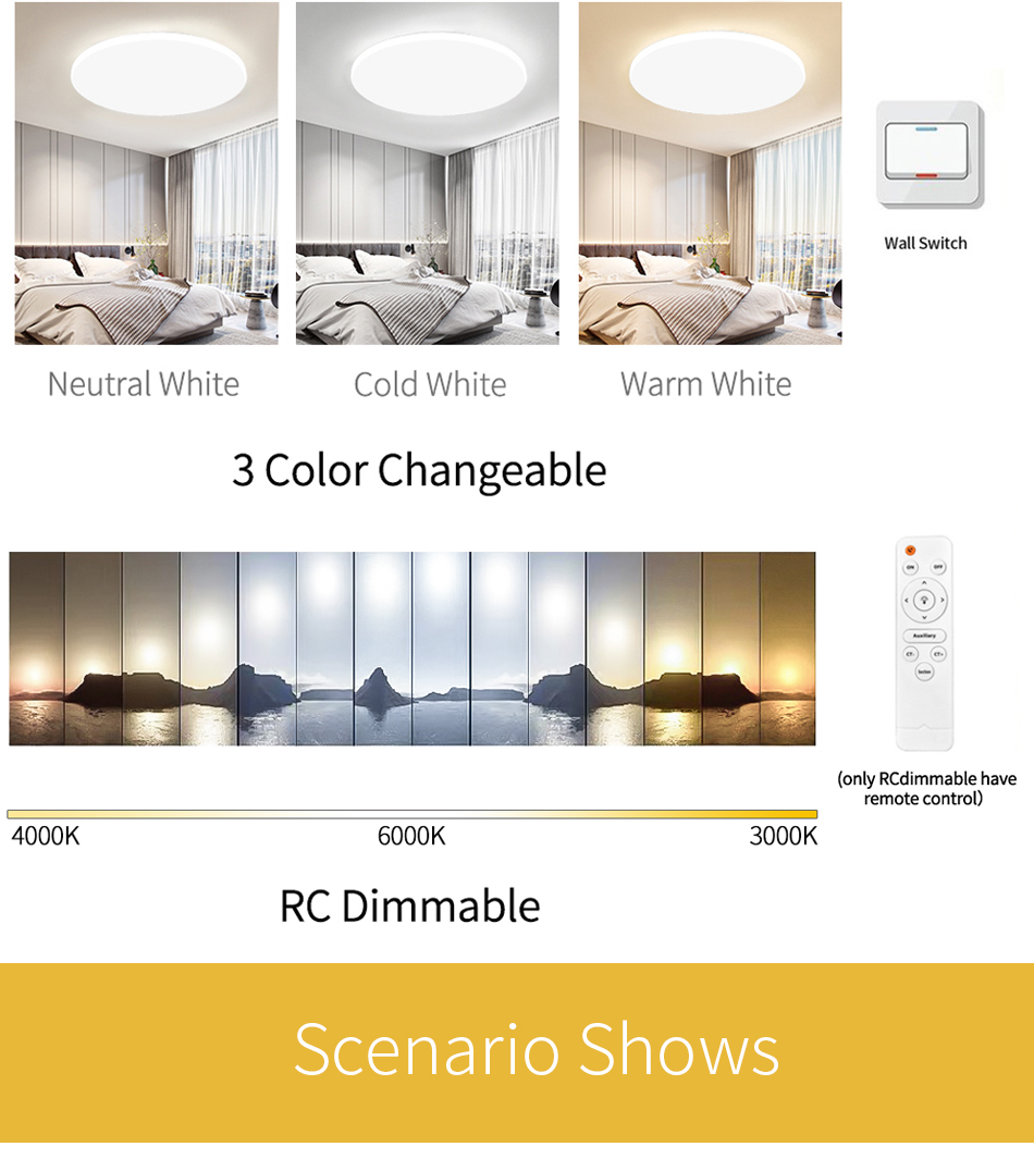 HTB1j DwacrrK1RjSspaq6AREXXaA Ultra Thin LED Ceiling Lights Modern Lamp Living Room Bedroom Kitchen Lighting Fixture Surface Mount Remote Control