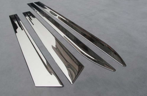 Stainless Steel Body door Side Molding trim Chrome for 2010-2013 Cadillac SRX цены