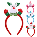Cartoon Flashing Christmas Headband Light Up Hair Band Hair Accessories For Girls Stage Performance Accessories DM#6