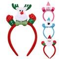 Dos desenhos animados de Natal Piscando Cabeça Light Up Acessórios de Cabelo Banda Acessórios de Cabelo Para Meninas Do Desempenho Do Estágio DM #6