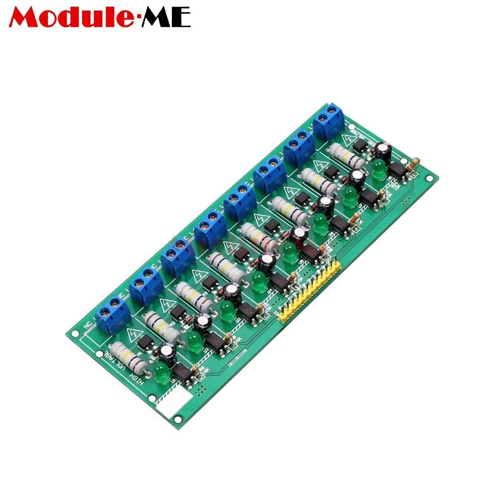 AC 220 v 8 Canal MCU TTL Niveau 8 Ch Isolement Optocoupleur Test Conseil Détection Isolée Testeur Module PLC Processeurs