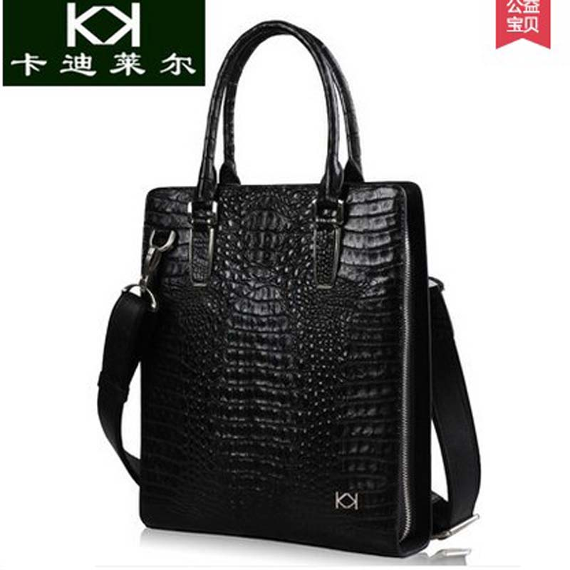 KADILER 2018 new hot free shipping real crocodile male handbag large capacity vertical business briefcase bag new laptop bag hot pgm golf clothes pack men s double shoes bag extra large capacity bag pack portable clothes shoes handbag free shipping