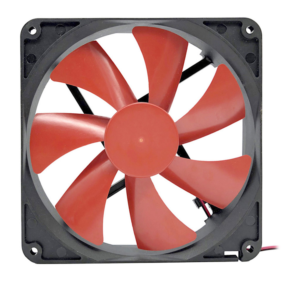 GOOD F14025 <font><b>140mm</b></font> PC Case <font><b>Fan</b></font> Cooler 4-Pin Connector Cooling <font><b>Fan</b></font> <font><b>12V</b></font> Desktop Exhaust <font><b>Fan</b></font> for Computer Cooling System image