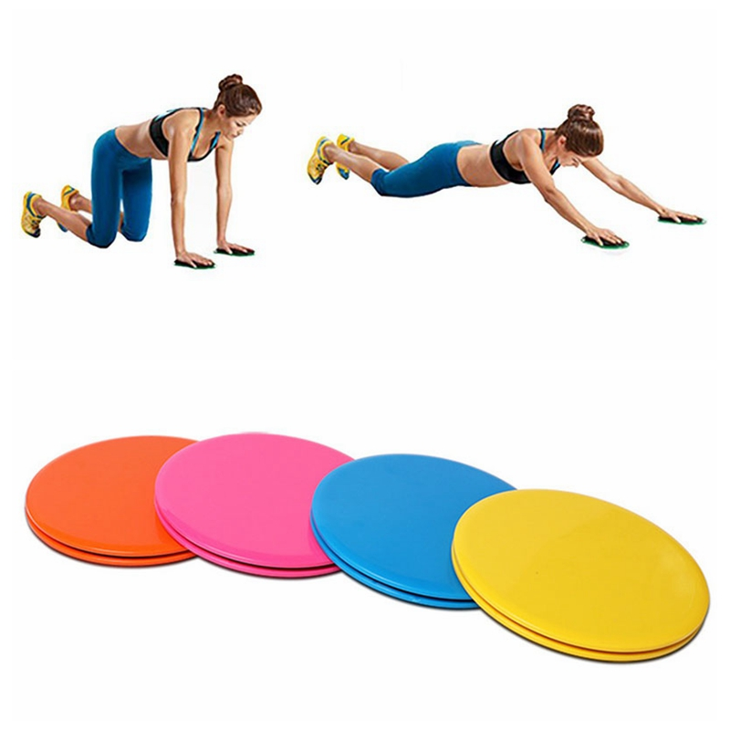 2Pcs Sliding Discs Double Side Exercise Fitness Round Full Body Sport Core Pads 4 Colors