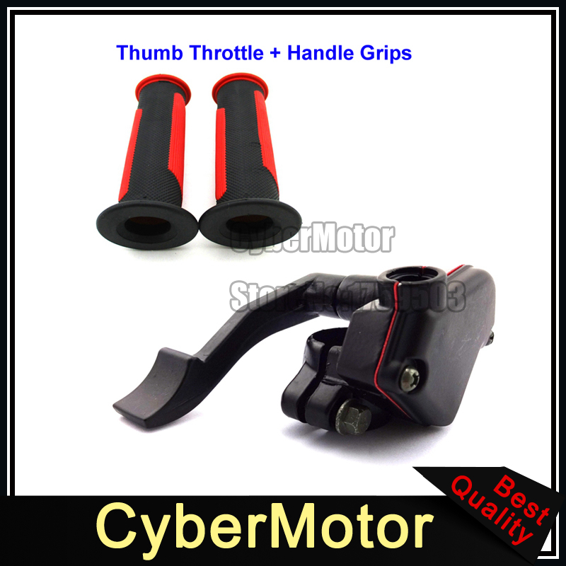 Alloy Thumb Throttle Handle Grips For ATV Quad 4 Wheeler 50cc 70cc 90cc 110cc 125cc 150cc 200cc 250cc Taotao Sunl Kazuma Roketa 150 200cc atv quad thumb throttle assy dual brake cable throttle cable