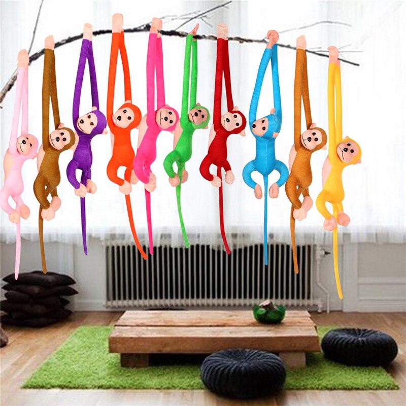 60CM Long Arm Tail Monkey Animal Stuffed Plush Toys Colorful Baby Dolls Curtains Children Birthday Gifts Kids Long Arm Monkey