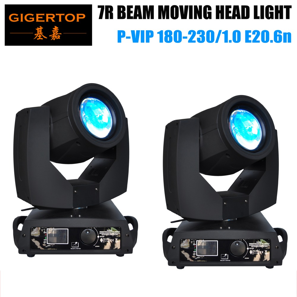 TIPTOP 2XLOT Professional O-s-r-a-m 7R LED moving head beam light for clubs, celebration, party, 230W Sharpy Beam Phase Motor r r s stewart designing a campus for african american females
