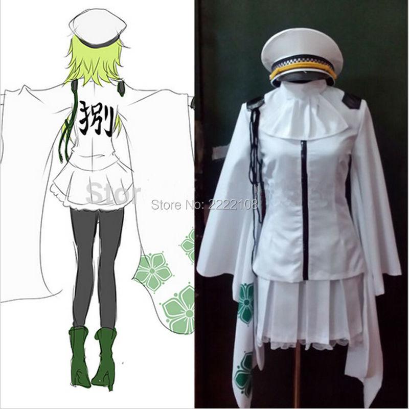 Cheap Anime Vocaloid Hatsune Miku Senbonzakura Gumi Kimono Uniform Dress Cosplay Costumes Whole Set  Halloween Costume For women