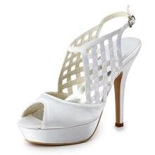 Schnitten plattform sandalen hochzeit schuhe satin bridals sandalen OL hochzeit schuhe sapatos feminios abend partei stiletto RR-079 YY