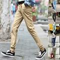 Новый стиль брюки весна лето осень 85% хлопок тощие прямые брюки горячая распродажа модный мужчины карандаш