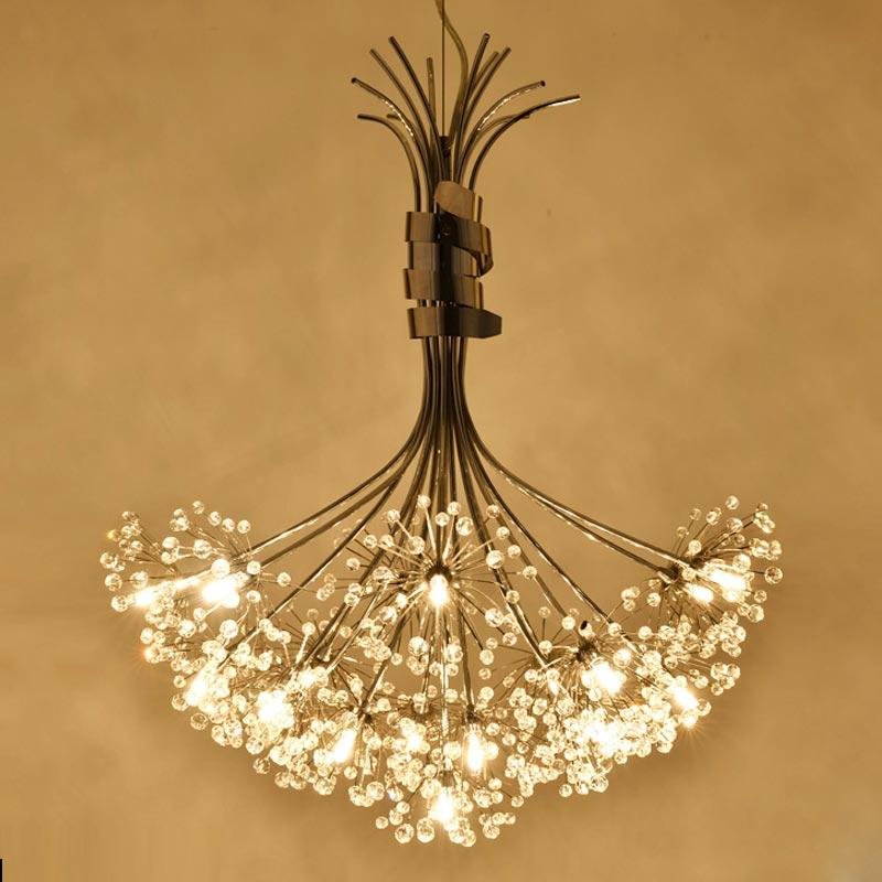 Modern Crystal Led Lamp Dandelion Design Flower Chandelier Res For Living Room Foyer Kitchen Decor Home Lighting Fixtures G4 In Chandeliers From Lights