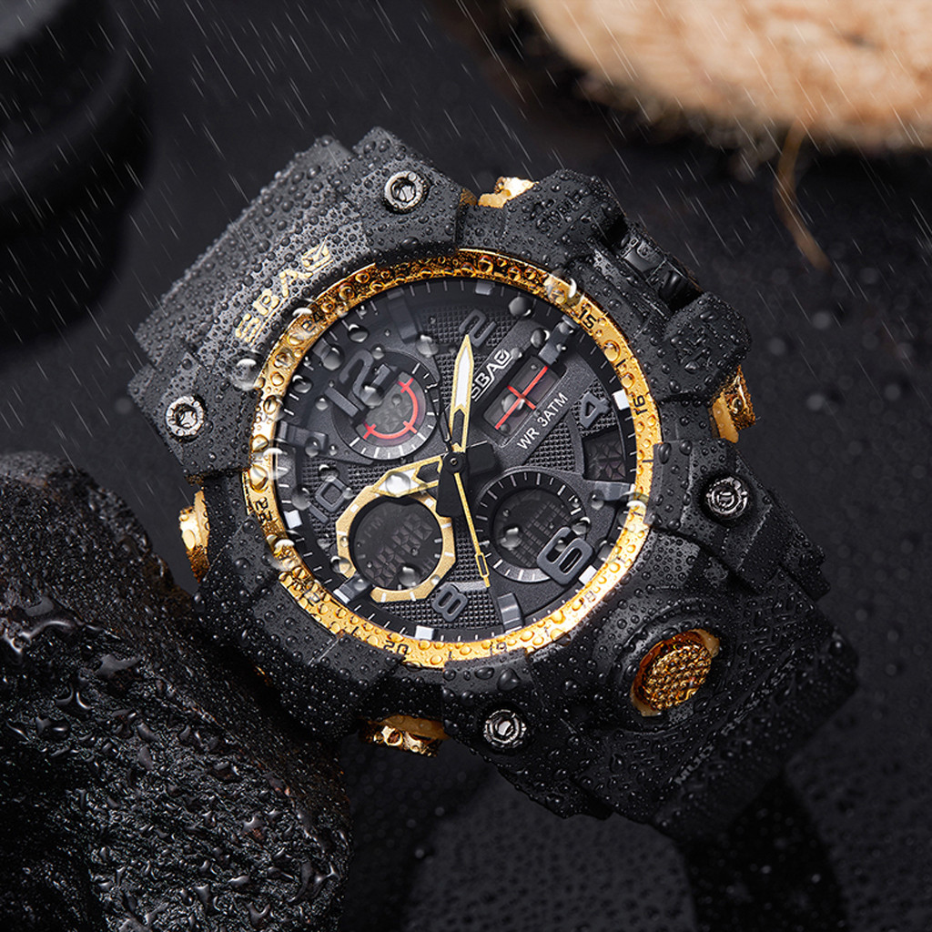 Sport Men Digital LED Watches TPU Quartz Wristwatches Electronic Watch Fashion Gif Men's Watch Dress Watches Man's Logo
