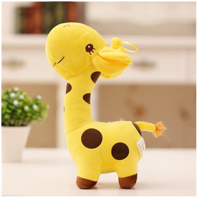 Милый подарок унисекс, 18 см, плюшевый жираф, мягкая игрушка, животное, кукла, малыш, ребенок, ребенок, Рождество, день рождения, красочные пода...