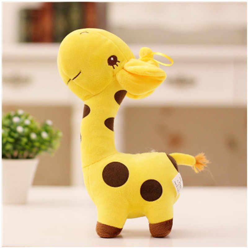 18cm Unisex lindo regalo de felpa jirafa suave juguete Animal estimado muñeco bebé chico Navidad cumpleaños feliz colorido regalo fts5 colores