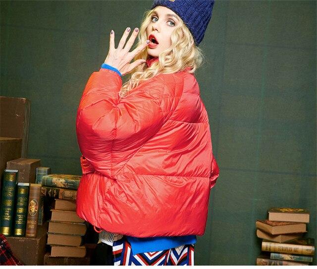 AYUNSUE Fashion Womens White Duck Down Jacket Warm Winter Coat Female Padded Cloak Parka Solid Ladies Coats Abrigo Mujer WXF353