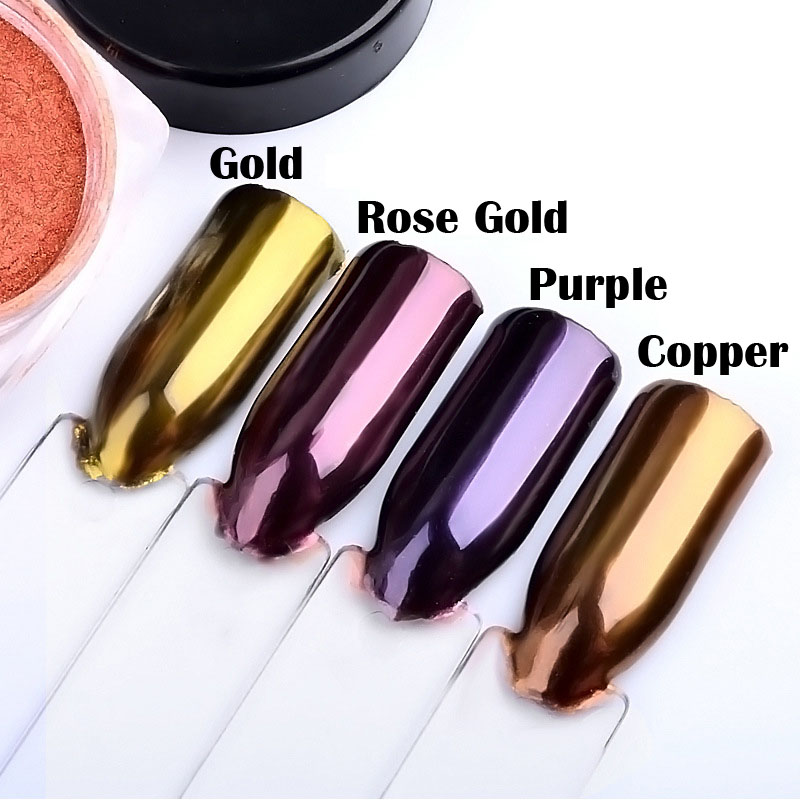 2g Mermaid Glitter Nail Powder Nails Glitters Colors Gold Nails Flakes Dust Glitzer Nail Powder Pigment Dipping Powder Manicure