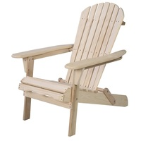 GIANTEX Ergonomic Outdoor Garden Patio Furniture Folding Sun Lounger Fir Wood Adirondack Chair Chaise Lounge HW50296