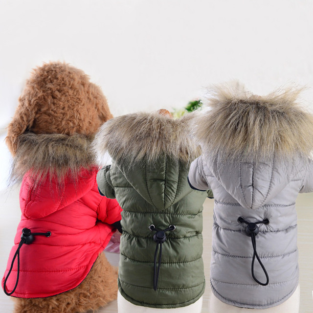 Ropa para perros ropa para mascotas abrigo chaqueta acolchada de algodón disfraz cachorro invierno ropa con capucha abrigos para perros pequeños Bulldog