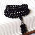 Bead Bracelet  100% Natural Black Agate Bracelet Black Onyx 6mm