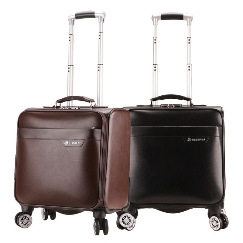 Mens Rolling Luggage 16inch Waterproof Business Travel Bag 360 Degrees Free Rotate Mute Universal Wheel Boarding Box for Men термокружка emsa travel mug 360 мл 513351