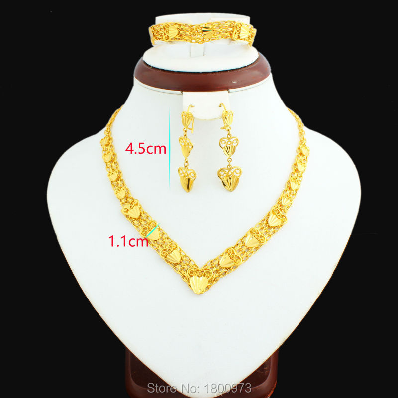 2017 Newest Gold Color Dubai gold jewellery set Turkish Egyptian ...